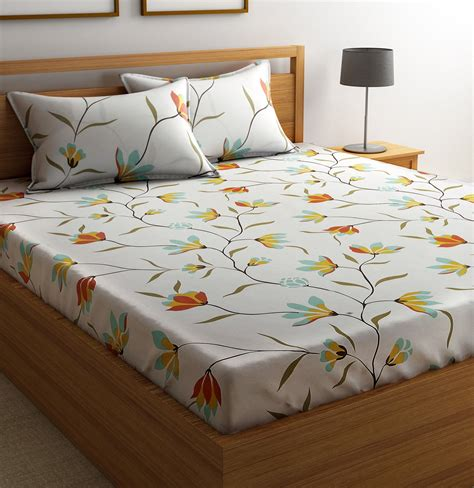 buy bed sheets flipkart smartbuy cotton floral double bedsheet buy