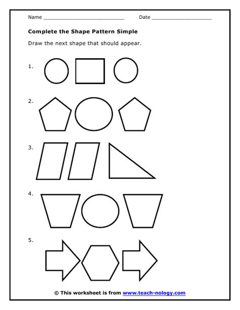 pattern and shape worksheets free worksheets 187 simple pattern worksheets with shapes