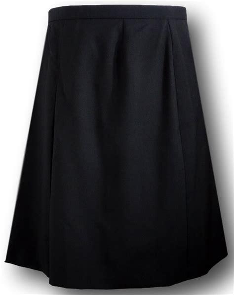 black single pleat school skirt