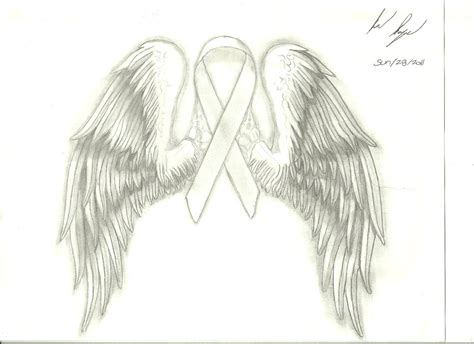 breast cancer ribbon with wings by naageson95 on deviantart