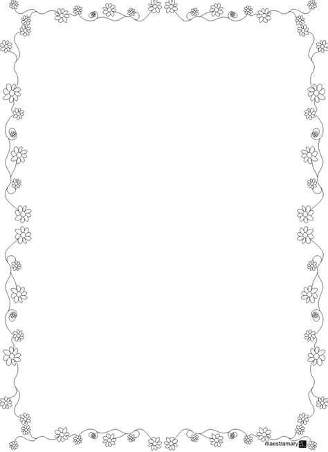 cornici foglio a4 printable frames and borders