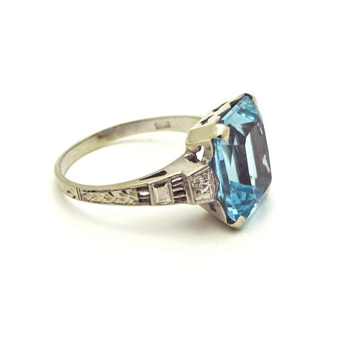 1920s aquamarine gold ring for sale at 1stdibs