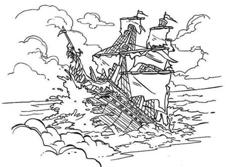 ghost ship coloring pages 10 images of pirates of the caribbean ship coloring pages