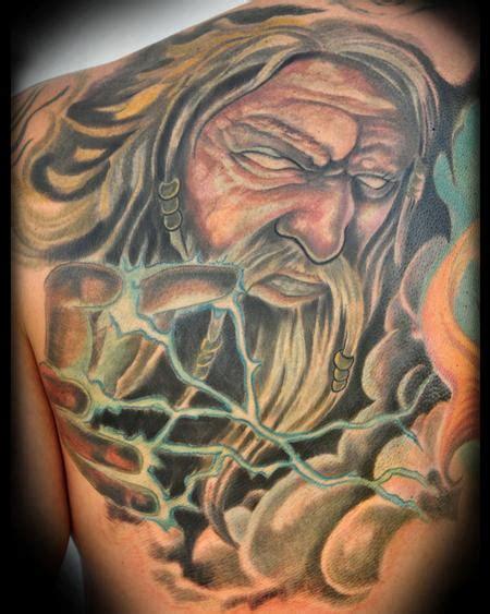 hand tattoo zeus zeus back panel by brandon heffron tattoo inspiration