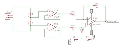 resistor divider op op how to measure line voltage 220v with an arduino electrical engineering stack exchange