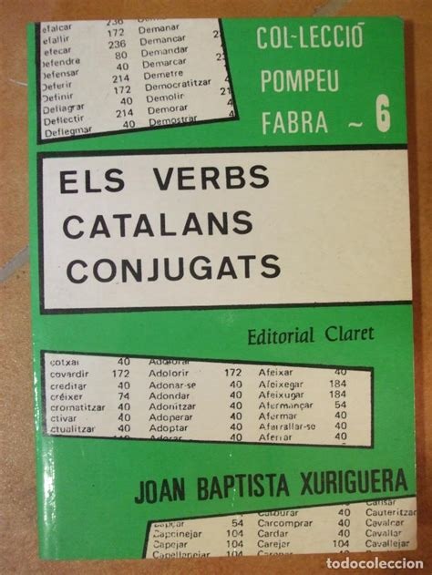 libro els verbs catalans conjugats els verbs catalans conjugats joan baptista xu comprar diccionarios en todocoleccion 98408863