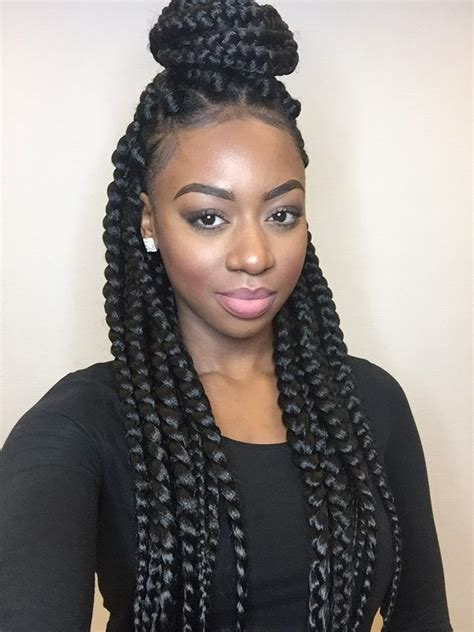 styling with big braids dookie braids coiffure tresse pinterest hair style