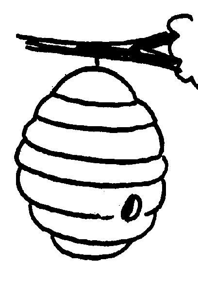bee hive clip art clipart best