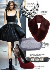 black dress holiday accessories
