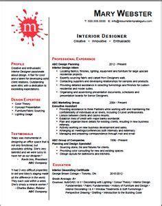 interior design cv template uk keyword optimized and customizable interior designer