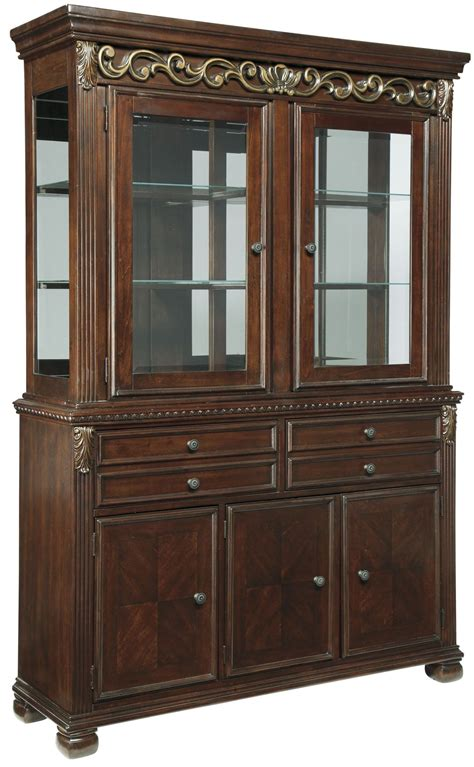 Hutch Furniture Leahlyn Brown Buffet With Hutch From D626 80 81