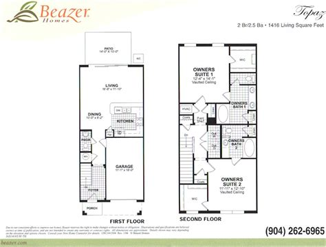 Beazer Home Floor Plans Stonefield At Bartram Park Townhomes And Courtyard Homes