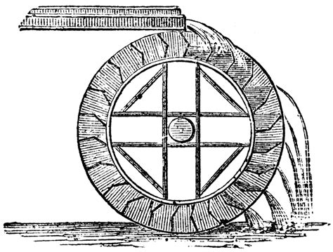 water wheel coloring page sketch of water wheel coloring pages