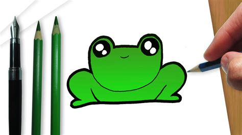 imagenes de la rana kawaii c 243 mo dibujar un kawaii sapo youtube