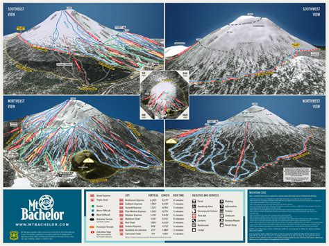 map of oregon ski resorts mount bachelor piste maps