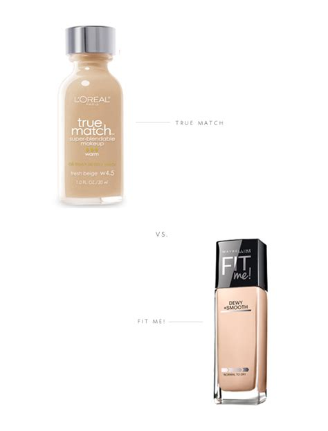 Maybelline Fit Me Dewy And Smooth l oreal true match vs maybelline fit me dewy smooth
