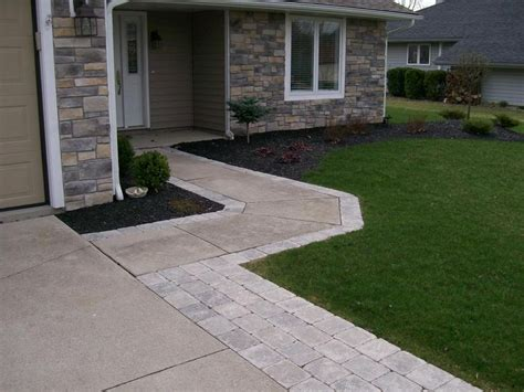 Paver Stones Widen Drive Walk By Natures Way Landscaping Nature S Way Landscaping