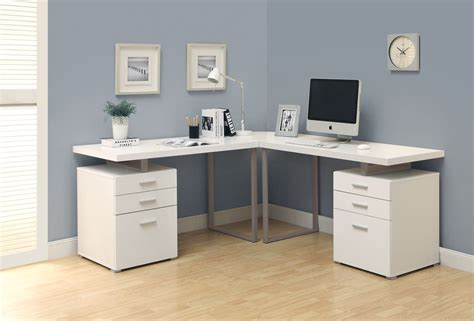 stunning modern home office desks with unique white glossy desk double pedestal modern computer desk in white finish