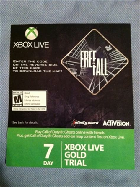 xbox 7 day trial free free free xbox live gold 7 day trial code free fall 2 prepaid cards