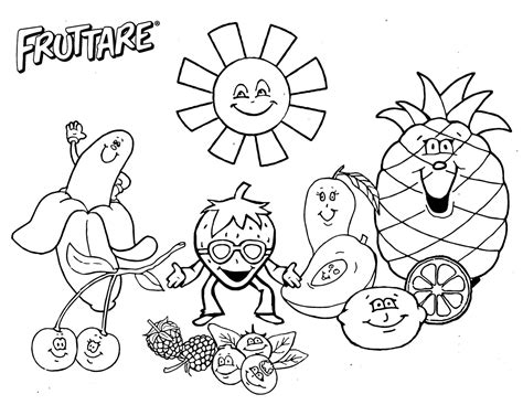 free fruit salad coloring pages