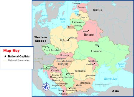 map russia eastern europe map of eastern europe travel map