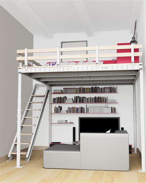 mezzanine bed now you can add a micro loft to your home with a diy kit