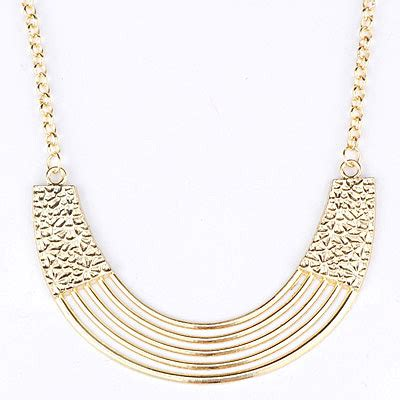 Kalung Korea Choker Pendant Decorated Hollw Out Weaving vintage gold color metal decorated hollow out design asujewelry