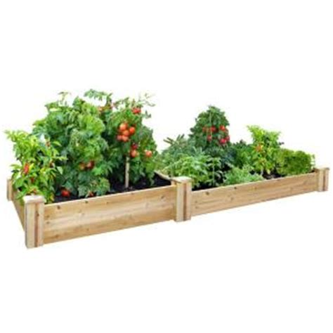 home depot garden bed greenes fence 48 in x 96 in cedar raised garden bed rc