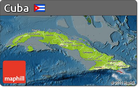 physical map of cuba free physical map of cuba darken