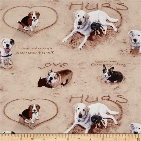 puppy fabric sand scribbles allover sand discount designer fabric fabric