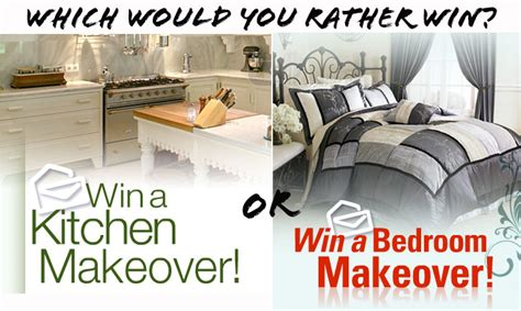Win A Kitchen Makeover by This Or That Kitchen Makeover Or Bedroom Makeover Pch