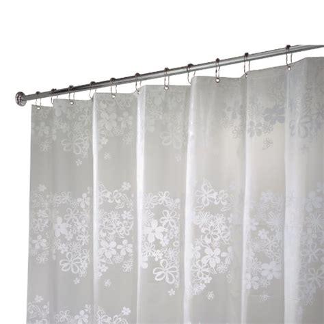 shower curtain 54 x 78 interdesign fiore stall size shower curtain white 54 inches x 78 inches 14 97