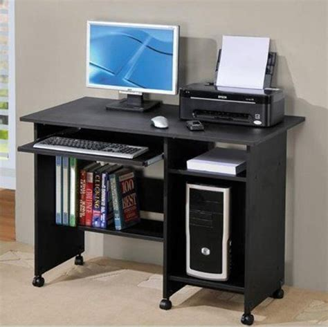 1 simple style black color computer desk by hp 119