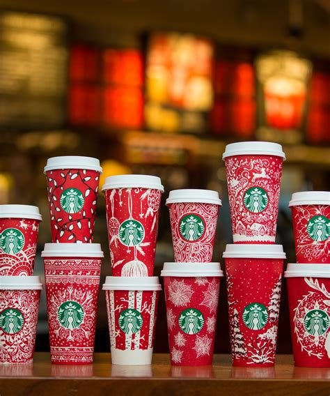 cup designs new starbucks winter red cups every cup design