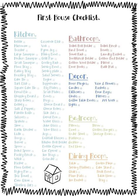 household items list for new home best 25 first home checklist ideas on pinterest first