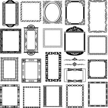 vector pattern frames cdr black vintage design element set frame border floral label