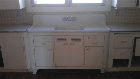 vintage single basin double drainboard kitchen sink