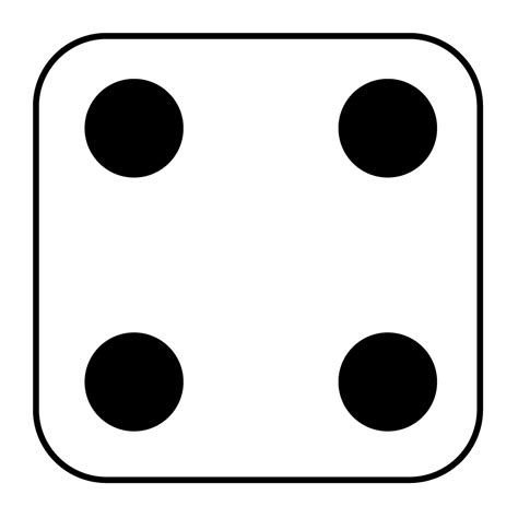 printable dice dot cards dice number 5 clipart best