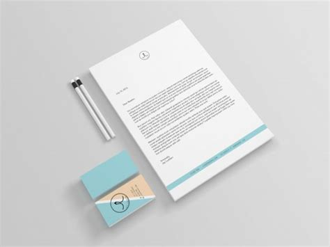 Business Card Letterhead Mockup Personal Branding Logo Business Card Letterhead Mockups Store Free Ideas For Your