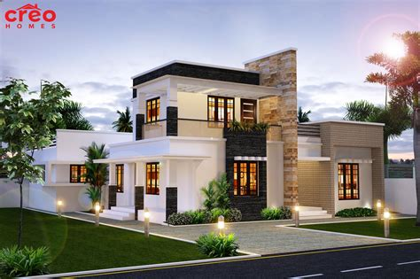 4 bhk contemporary style home 195 square meter kerala home design and floor plans modern delightful house home design