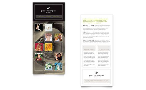 rack card template for pages photography studio rack card template word publisher