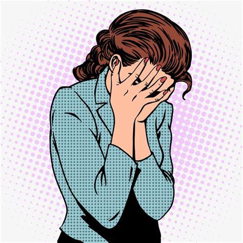 imagenes de niños llorando animadas la mujer que llora mujer pintado a mano de mujer triste