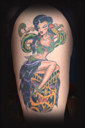 hula girl tattoo cool hula by saville tattoos