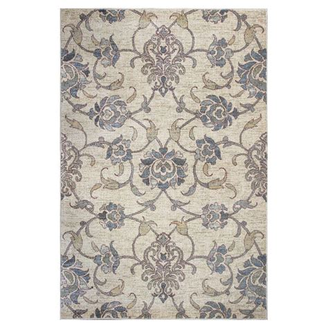 7 ft rugs kas rugs willowdale ivory 7 ft 7 in x 10 ft 10 in area rug zar750977x1010 the home depot