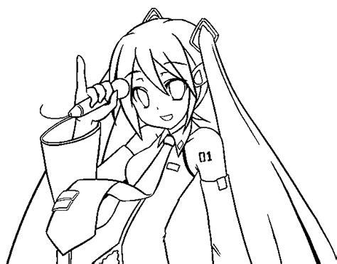 imagenes de hatsune miku kawaii para colorear dibujos para colorear de hatsune imagui