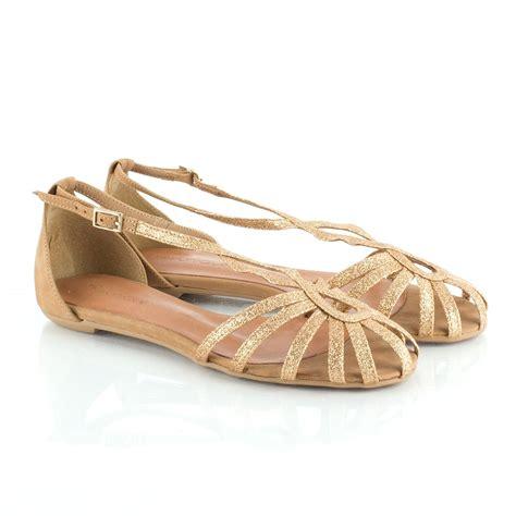 sandals gold daniel gold binomial women s flat glitter sandal