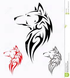 Tribal wolf tattoo royalty free stock image image 26778946