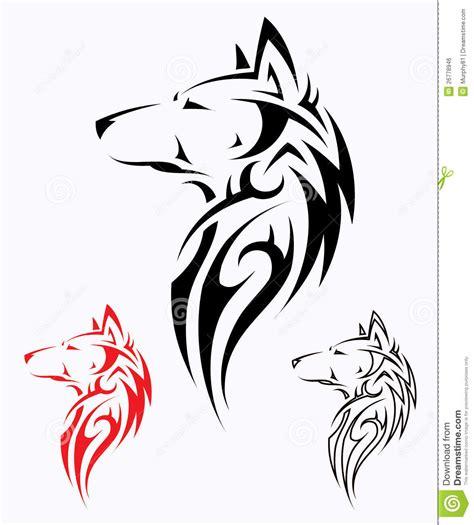 tribal wolf tattoo royalty free stock image image 26778946