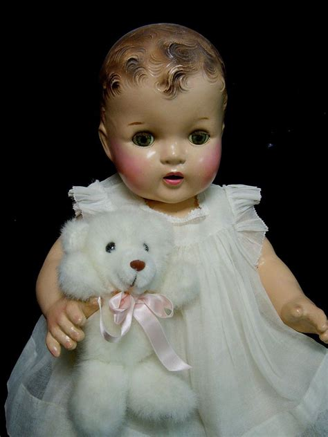 large composition doll vintage large 22 quot composition baby doll 1930 40 s