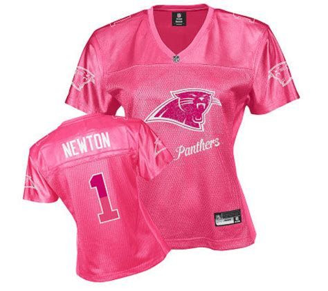 qvc nfl fan shop nfl carolina panthers cam newton women s pink fan jersey